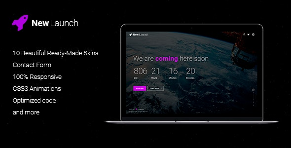 New Launch | Responsive Coming Soon Page HTML